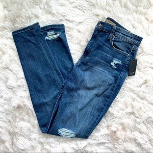 Joe's Jeans High Rise Skinny Distressed Jeans
